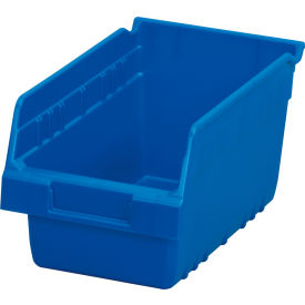"Akro-Mils ShelfMax® Plastic Shelf Bin Nestable 30090 - 6-5/8""W x 11-5/8""D x 6""H Blue - Pkg Qty 10"
