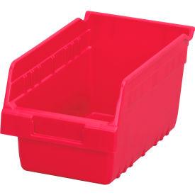 "Akro-Mils ShelfMax® Plastic Shelf Bin Nestable 30090 - 6-5/8""W x 11-5/8""D x 6""H Red - Pkg Qty 10"