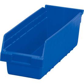 "Akro-Mils ShelfMax® Plastic Shelf Bin Nestable 30098 - 6-5/8""W x 17-7/8""D x 6""H Blue - Pkg Qty 10"