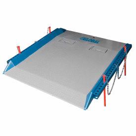 Bluff® 15C8466 Steel Red Pin Heavy Duty Dock Board 84 x 66 15,000 Lb. Cap.