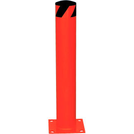 "Red Steel Bollard With Removable Rubber Cap 42""H x 4-1/2"" Dia."
