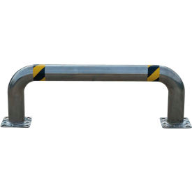 """Stainless Steel Low Profile Rack Guard 48"""" L x 16"""" H x 4-1/2"""" Dia"""