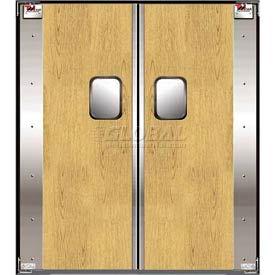 TMI Service-Pro™ Double Restaurant Swinging Door 6 x 7 Wood Laminate 300-00311