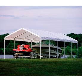 """Shelterlogic Super Max™ Canopy 25767, 12'W X 30'L, 2"""" Frame, 12-Leg, White"""