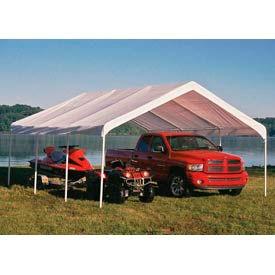 """Shelterlogic Super Max™ Canopy 26773, 18'W X 20'L, 2"""" Frame, 8-Leg, White"""