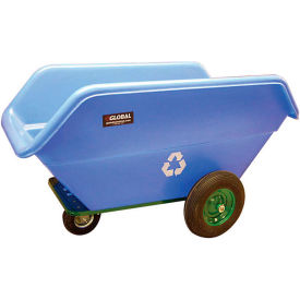 All Terrain Plastic Recycling Cart 22 Cu. Ft. & 800 Lb. Capacity
