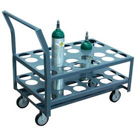 """Jamco Oxygen & Medical Cylinder Cart KJ024 24 Type D & E Tanks 5"""" Thermorubber Casters"""