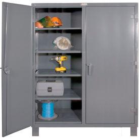 "Durham Heavy Duty Double Shift Storage Cabinet HDDS246078-8S95 - 12 Gauge 60""W x 24""D x 78""H"