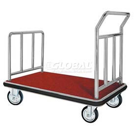Aarco Deluxe Chrome Luggage Platform Cart FB-1C 42 x 24
