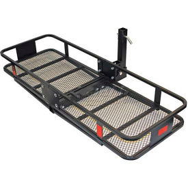 Folding Hitch Mounted Steel Cargo Carrier Mesh Deck 500 Lb. Capacity - 5426021