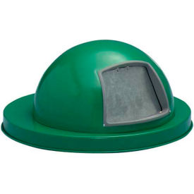 Steel Dome Top for Mesh Trash Container - Green