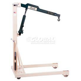 Beech Engineering Premium Hydraulic Floor Crane B-1000 1000 Lb. Capacity