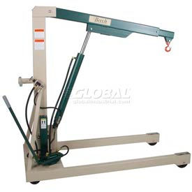 Beech Engineering Premium Hydraulic Floor Crane 3000 Lb. Capacity