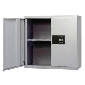 Sandusky Snapit Keyless Electronic Wall Cabinet KDEW30123 Easy Assembly - 30x12x30, Light Gray