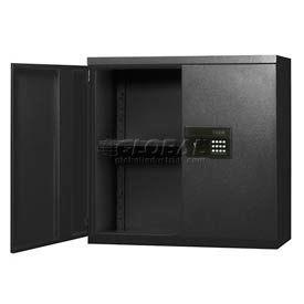 Sandusky Snapit Keyless Electronic Wall Cabinet KDEW30123 Easy Assembly - 30x12x30, Black