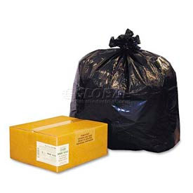 ReClaim™ Black Recycled Can Liners - 33 Gallon, 1.25 Mil, 100/Carton