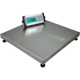 "Adam Equipment CPWplus 150M Digital Platform Scale 330 x 0.1lb 19-11/16"" Square Platform W/ Wheels"