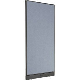 "Electric Office Partition Panel, 36-1/4""W x 76""H, Blue"