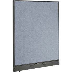 """Electric Office Partition Panel, 48-1/4""""W x 46""""H, Blue"""