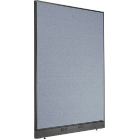 """Electric Office Partition Panel, 48-1/4""""W x 64""""H, Blue"""