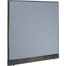 "Electric Office Partition Panel, 60-1/4""W x 46""H, Blue"