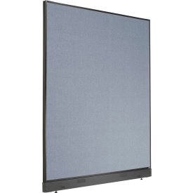 """Non-Electric Office Partition Panel with Raceway, 60-1/4""""W x 76""""H, Blue"""
