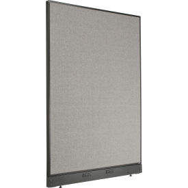 """Electric Office Partition Panel, 48-1/4""""W x 64""""H, Gray"""