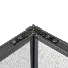 """Corner 90 Degree Connector Kit For 76"""" H Raceway Panel Without Cable"""