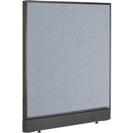 "Non-Electric Office Partition Panel with Raceway, 36-1/4""W x 46""H, Blue"