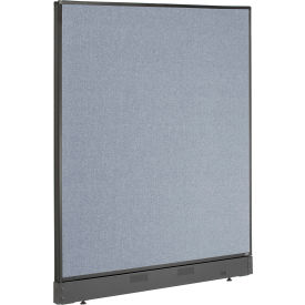 """Non-Electric Office Partition Panel with Raceway, 48-1/4""""W x 46""""H, Blue"""