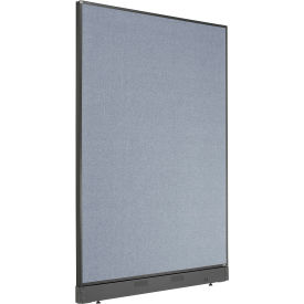 "Non-Electric Office Partition Panel with Raceway, 48-1/4""W x 64""H, Blue"