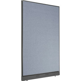 """Non-Electric Office Partition Panel with Raceway, 48-1/4""""W x 76""""H, Blue"""