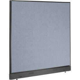 "Non-Electric Office Partition Panel with Raceway, 60-1/4""W x 46""H, Blue"