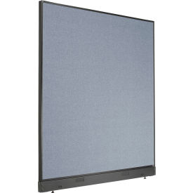 """Non-Electric Office Partition Panel with Raceway, 60-1/4""""W x 64""""H, Blue"""