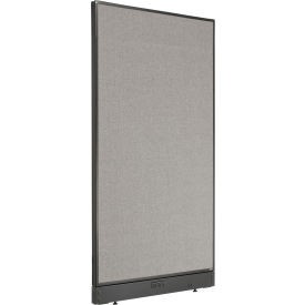 "Electric Office Partition Panel, 36-1/4""W x 64""H, Gray"