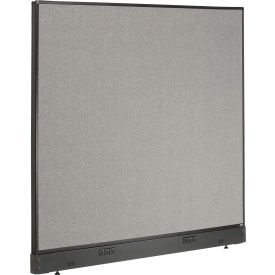 "Electric Office Partition Panel, 60-1/4""W x 46""H, Gray"