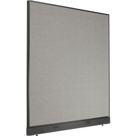 """Electric Office Partition Panel, 60-1/4""""W x 64""""H, Gray"""