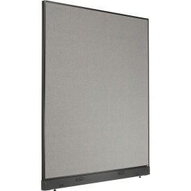 """Electric Office Partition Panel, 60-1/4""""W x 76""""H, Gray"""