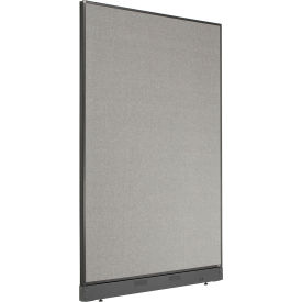 "Office Partition Panel with Pass-Thru Cable, 48-1/4""W x 76""H, Gray"