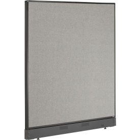 """Non-Electric Office Partition Panel with Raceway, 48-1/4""""W x 46""""H, Gray"""