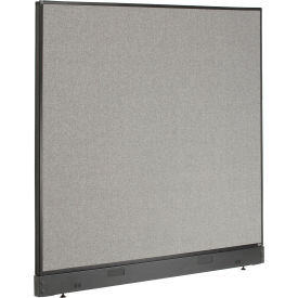 "Non-Electric Office Partition Panel with Raceway, 60-1/4""W x 46""H, Gray"