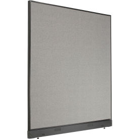 "Non-Electric Office Partition Panel with Raceway, 60-1/4""W x 64""H, Gray"