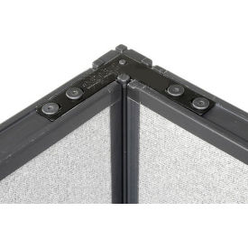 """90 Degree Corner Connector Kit For 76"""" H Panel With 1 Pass Through Cable"""