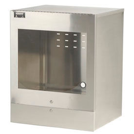 Aero Manufacturing Stainless Steel Countertop Computer Cabinet