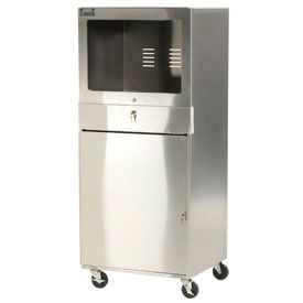 Aero Manufacturing Stainless Steel Mobile Computer Cabinet