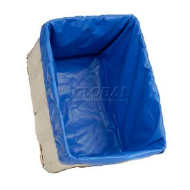 Hamper Basket Liner, 10 Oz. Vinyl, 14 Bushel, Blue