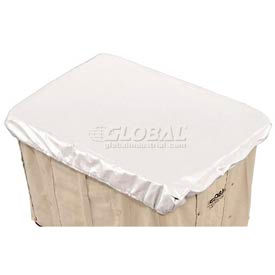 Hamper Basket Cap, 10 Oz. Vinyl, 20 Bushel, White