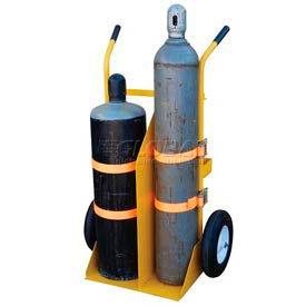 Vestil Welding Cylinder Cart CYL-E-FF Foam-Filled Wheels 34-1/4 x 22-13/16
