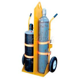 Vestil Fire Protection Welding Cylinder Cart CYL-EH-FP Pneumatic Wheels 23 x 34-1/4 x 66-3/8