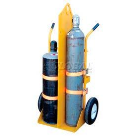Vestil Welding Cylinder Cart CYL-EH Pneumatic Wheels 34-1/4 x 23 x 66-3/8